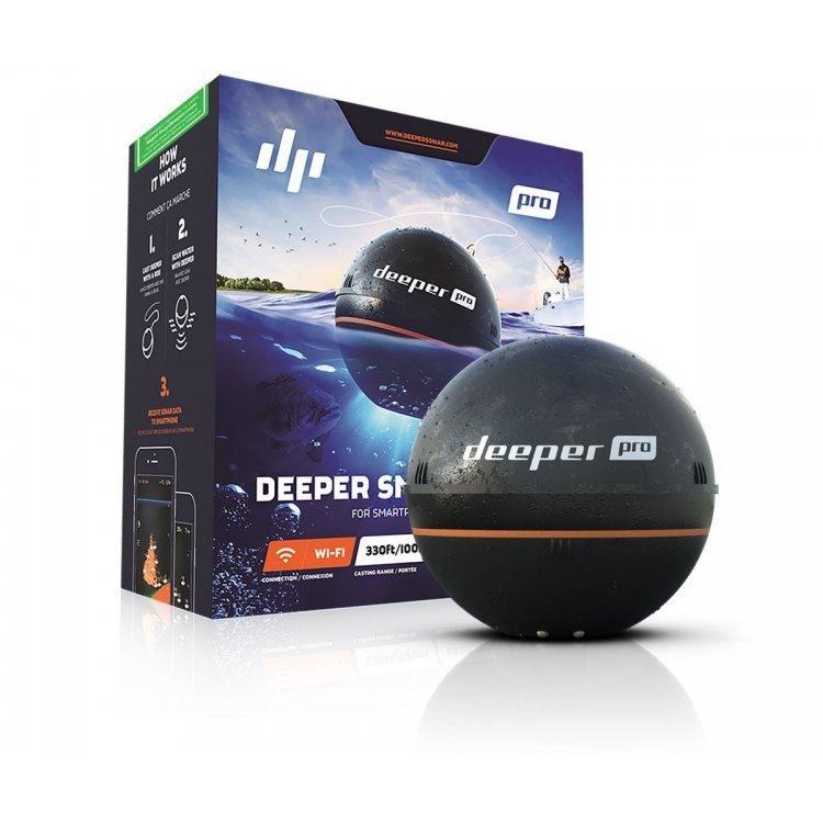Эхолот Deeper Smart Sonar PRO с Wi-Fi беспроводной двухлучевой