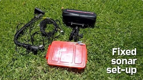 Много оборудования при использовании других эхолотов